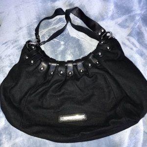 BCBGmaxazira Black Cloth Shoulder bag